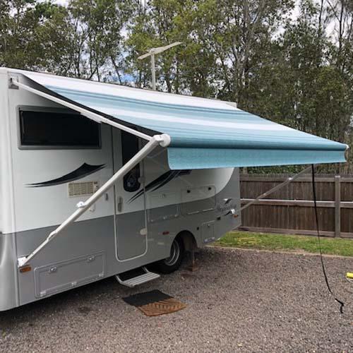 Sunshine Coast Caravan Repairs Awnings after repair