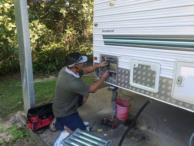 Caravan Hot Water System Repair