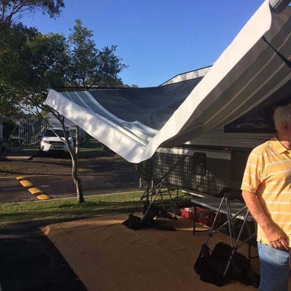 Storm Damaged Caravan Awning Repair Sunshine Coast